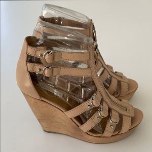 Cynthia Vincent Wedge Sandals